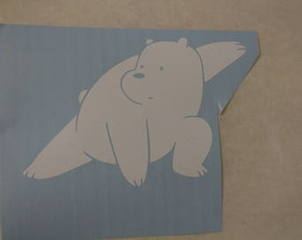 Ice Bear Knows Karate Decal Any Size Any Colors