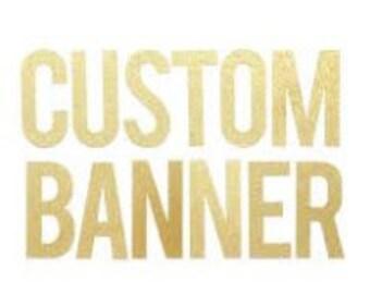 Custom Banner/Garland Order