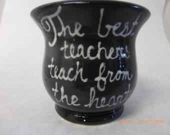 Wheel Thrown Teacher Pencil Crock