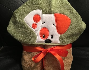 Cute Little Puppy Hooded Bath Towel