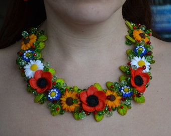 Handmade polymer clay necklace  Women's Accessories