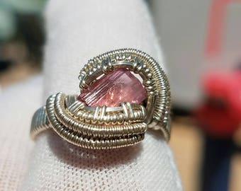 Pink Tourmaline Ring size 8