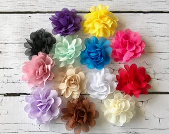 PICK 2 Chiffon Flower Headbands/Baby Headband/Infant headband/Baby Shower Gift/Newborn Hair Bow/Baby Head Bow/Baby Girl Bow/Newborn Headband