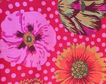 Quilt Fabric Kaffe Fassett for Rowan Westminster BIG BLOOMS GP 91 Fabric Sewing Yardage 1/2 yard