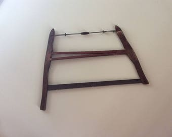 Vintage wood buck saw primitive wood cutting woodsman tool trimmer