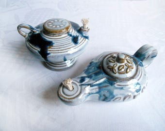 2 vintage oil lamps / W. Germany / 1980s