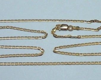 14K Yellow Gold 22 inch, 2 mm wide Gucci Link Chain 3.5 Gram