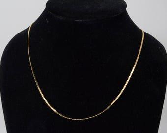 "14K Yellow Gold Serpentine Chain Chain, 31"" Long"