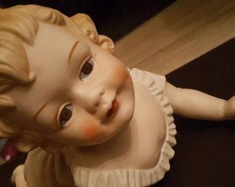 Porcelain Baby Girl Figure