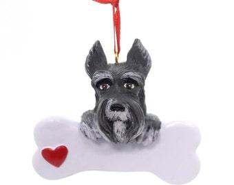 Schnauzer Personalized Christmas Ornament, Ornament, Schnauzer, Personalized, Dog Ornament, Personalized Dog Ornament