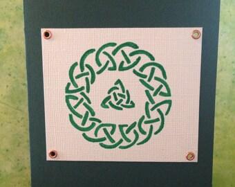 Celtic wreath blank card