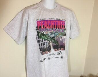 T-Shirt Adult L Gray- PEACHTREE ROAD RACE 1997 Atlanta. Ga    y