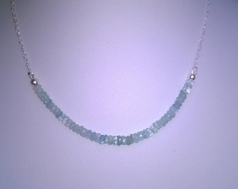 NEW - Aquamarine and sterling silver necklace