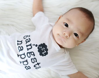 Funny Baby Shirt - Funny Toddler Shirt- Gangsta Nappa - Funny Baby Gift - Toddler Clothes - Infant Bodysuit - Printed Bodysuit