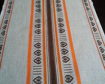 Vintage Sweden linen tablerunner.Home  decor.1980's