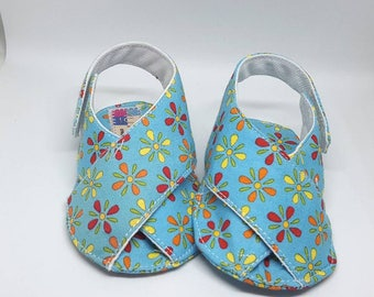 TURQUOISE BABY SANDALS