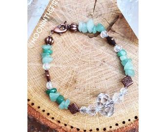 Aventurine & Copper Greenhouse Bracelet