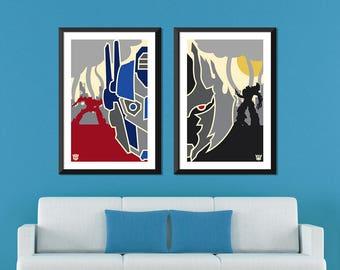 Transformers Minimalist: Optimus Prime & Megatron Set