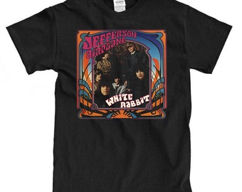 Jefferson Airplane - White Rabbit - Black T-shirt
