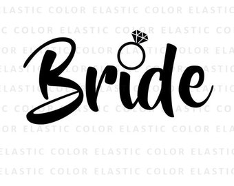 Bride svg - bride word art cut file and printable png - bride clipart digital file - silhouette cameo - cricut files svg, png, dxf, eps