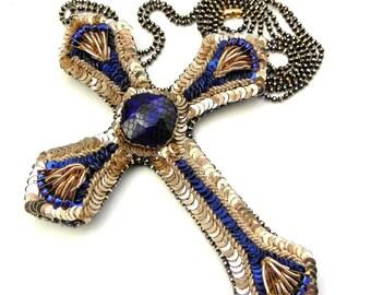 Collana croce in oro etsy for Arredamento raffinato e mkt