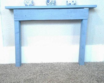 Wall table - blue