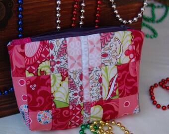 make-up bag, zippered bag, zippered pouch,bridesmaids gift, wedding bag, cosmetic bag, makeup organizer bag, toiletry bag