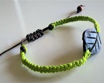 Hemp bracelet, macrame bracelet, coconut leaf bracelet, gifts for her, gifts for teens, friendship bracelet, beach wear, aromatherapy