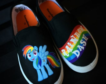 Custom painted My little pony shoes
