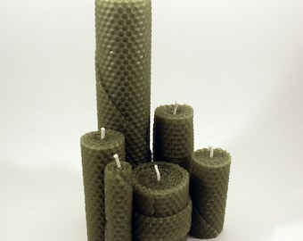 Assorted  100% Beeswax Candles