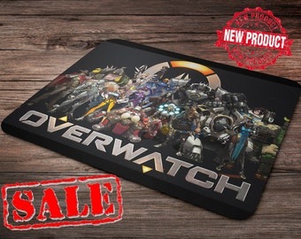 Overwatch All Characters Mouse Pad. Overwatch Mouse Pad. overwatch mousepad. home decor. appliances at home. the watch shop