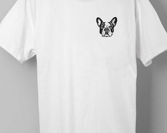 French Bulldog Pocket Print T-shirt