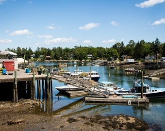 Photo of of a harbor in Maine