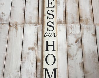 Bless Our Home | Wood Sign | Rustic Wooden Sign | Home Décor | House Warming | Gift