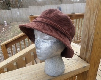 Forever Cool  Casual Brown Corduroy Hat