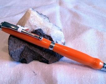 Fancy Slimline twist pen with Orange Corian