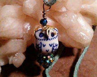 Little Owlie Necklace & Earrings Set