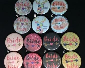 Bride Tribe Bachelorette Party Button Pins