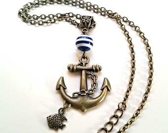 Nautical Necklace Anchor Ocean Sea