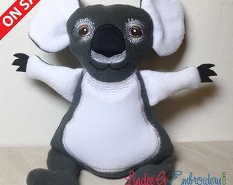 "In-the-Hoop Stuffed Jumbo Koala for 240 x 360mm Hoops (~12 x 14"")"