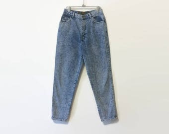 1990s Sasson High Waist Acid Wash Denim Pants 27W