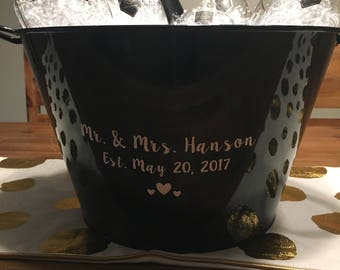 Personalized beverage cooler *wedding gift*
