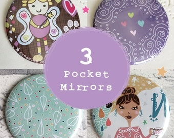 Christmas Gift, Multibuy Pocket Mirror, Hand Mirror, Quirky Mirror, Party Favors, Makeup Mirror, Cute Gift, Hen Party Favor, Stocking Filler