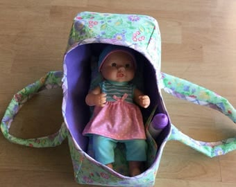 Doll cradle with doll