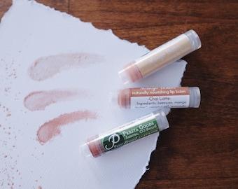 Organic Mango Butter lip balm (1 tube) - 13 sheer tints - natural lip care
