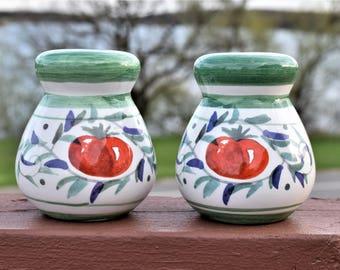 Vintage Ceramic Salt and Pepper Shakers/