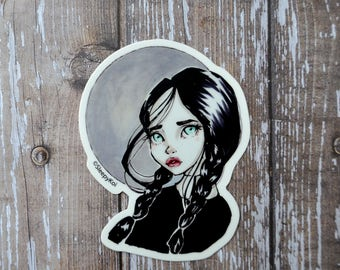 It's Wednesday! 3 Inch Vinyl Sticker Fan Art decal inspired by Wednesday Addams from The Addams Family. Planner Accessories Back to School