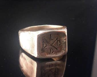 Signet ring // silver ring // man ring // hand made