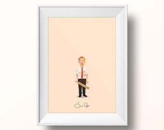 Simon Pegg - Shaun of the Dead Poster
