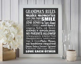 Grandma's Rules Sign